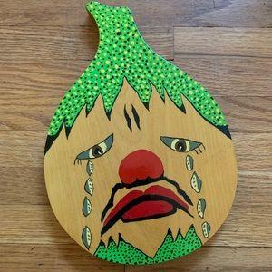 Vintage Mr. Onion Crying Onion Cutting Board